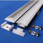 1M Flat Thin Aluminium Profile Channel with Cover for Rigid LED Strip