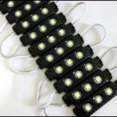 20Pcs 3 LEDs 12V Waterproof 5050 LED Module Injection Black ABS Plastic