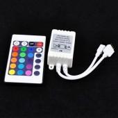 24 key Infrared LED RGB Controller 12V IR Remote Control 5pcs