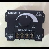 30A 360W LED Single Color Dimmer Switch Brightness Controller for 12V 24V LED Strip Light