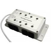 DMX Splitter 1 In : 8 Out LED DMX Signal Amplifier Booster