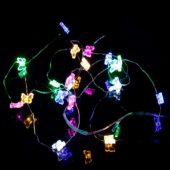 Colorful Butterfly 7ft 2M 20 LED Copper Wire String Fariy Light 5pcs