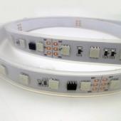 DC 24V SM16703 10ICs/M 60LEDs/M Addressable 5050 RGB LED Strip