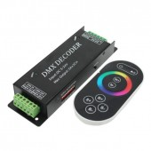 DMX100 3 Channel Strip DMX Decoder 5-24V Common Anode + Touch Remote Control
