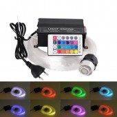 16W RGBW 0.75mm*50pcs*(2m+3m+4m+5m) optical lighting LED Fiber optic light Star Ceiling Kit