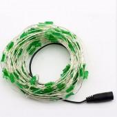 Christmas Tree Shaped Green 33ft 10M 100 LED Copper Fariy String Light 12V