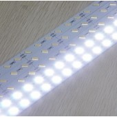SMD7020 Cold White 72LEDs/M Non-Waterproof 12V Hard LED Strip Light 24pcs