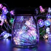 Sun Flower Mix Colors 33ft 10M 100 LED Copper Wire Fariy String Light 12V