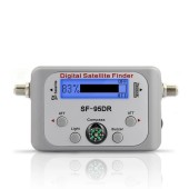 TV Receiver Decoder Digital Satellite Finder Signal Meter For Directv Dish Network FTA Signal Pointer SF-95DR