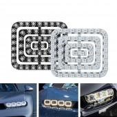 WS2812B RGB LED Panel Light 62 LEDs Pixels Digital Screen Car Lighting DIY Design 5V